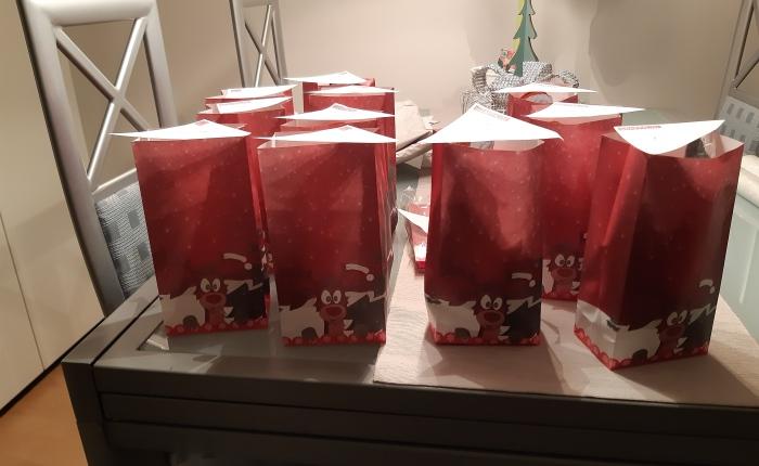 Kleine Geschenktüten alsAufmunterung